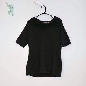 Athleta Women's Size L Cowl Neck SS Activewear Top